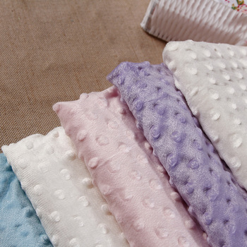 27 Farver Ultrasoft Minky Stof 1 Meter Boble Polyester Micro Mink Sengetøj, Tæppe, Pude, Madras Tpy Syning Materiale