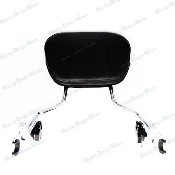 Chrome Sissy Bar Upright Passager Ryglæn w/ Pad For Harley Touring 2009-2016