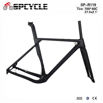 Spcycle 2018 Nye Model Carbon Road MTB Grus Cykel Stel Full Carbon Grus cykelstellet Cyclocross Disc Road Bike Frameset