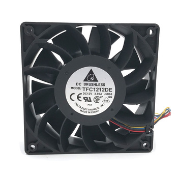 Original Delta TFC1212DE 12CM 12038 12V 3.9 EN 252CFM vinde booster PWM fan vold For Bitcoin miner super køling