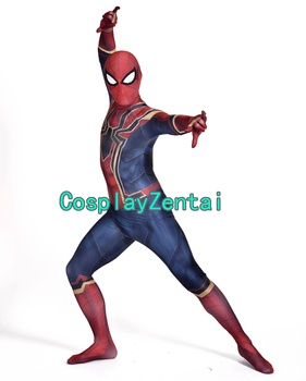 Iron Spider passer Spiderman Homecoming Cosplay Halloween Kostume 3D Spandex Zentai Dragt