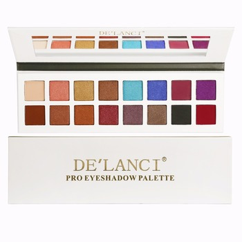 DE'LANCI Pro Eyeshadow Palette 11 Shimmer 5 Matte Farver Makeup øjenskygge - Højt Pigmenteret Multi-Colour Collection