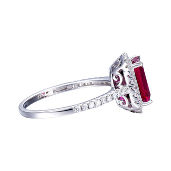 Hot Salg 3.6 ct Pigeon Blood Red Rubin Engagement Ring Ren Massiv 925 Sterling Sølv, med firskåret Fine Smykker med box