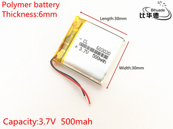 5pcs 500mAh 3,7 V 603030 Lithium Polymer Li-Po-li-ion Genopladeligt Batteri celler Til Mp3-MP4 MP5 GPS PSP mobile bluetooth