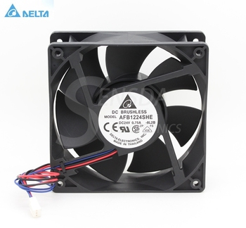 Delta AFB1224SHE 12CM 120MM 1238 12038 DC 24V 0.75 EN aksial server inverter cpu køler Ventilatorer