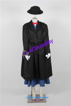 Mary Poppins cosplay kostume ACGcosplay omfatter hat
