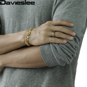 Davieslee Herre Drenge Gul Guld Center Band Ring i Tungsten Bryllup Engagement Silver 8mm LTR24