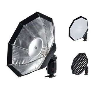 Godox AD-S7 Multifunktionelt Soft Box Ottekantede Honeycomb Grid Paraply Softboks for WITSTRO Flash Speedlite AD180/AD360